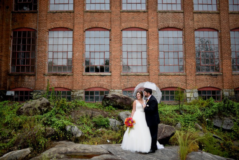 Borrowed And Blue - September 2015 - Colorful Industrial Mill Wedding
