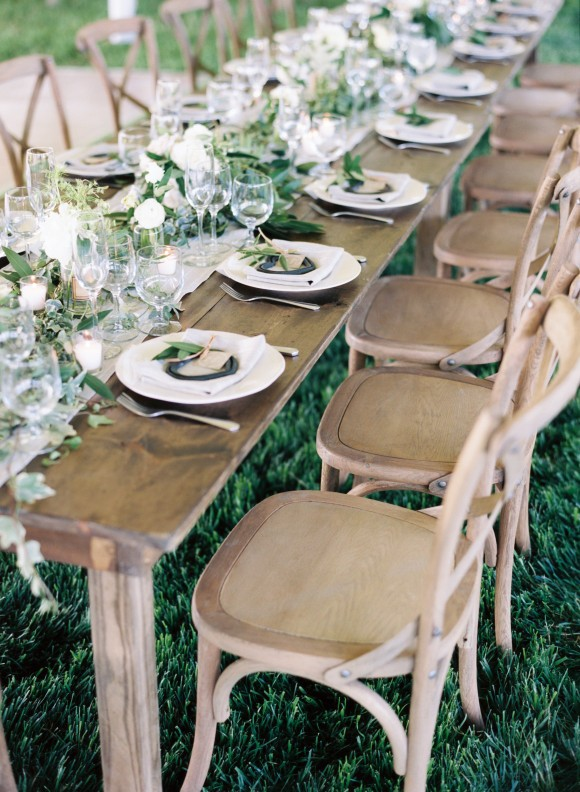 Green and Ivory Organic Real Wedding